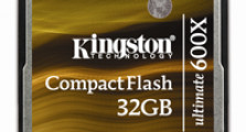 Kingston presenta su tarjeta CompactFlash Ultimate 600x